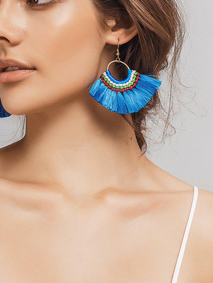 Ethnic Circle Braid Tassel Hook Earrings a to z mysteries the jaguar s jewel