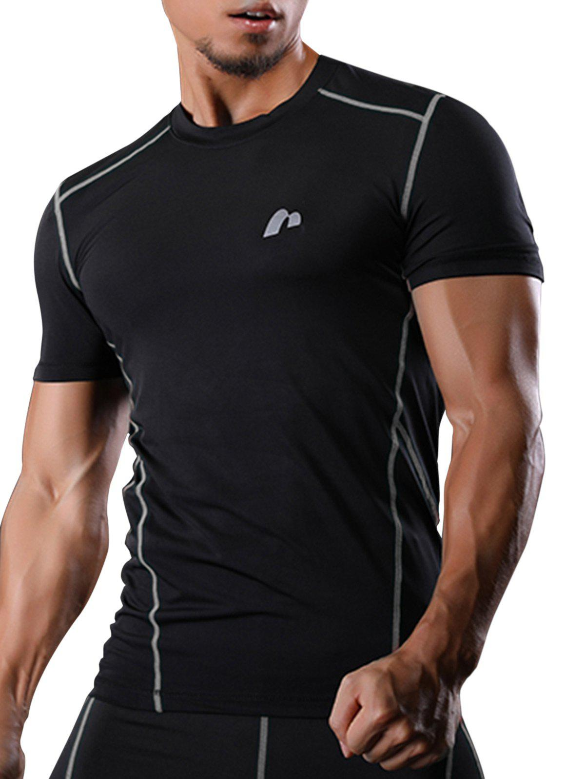 Short Sleeve Quick Dry Suture Stretchy Gym T-shirt raglan sleeve camouflage quick dry stretchy gym t shirt