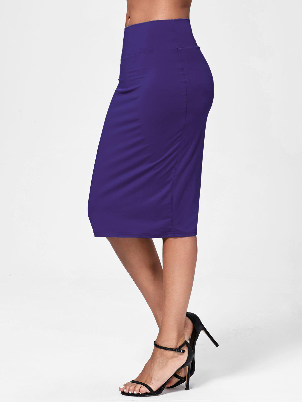 Jupe Midi Bodycon - Pourpre 2XL
