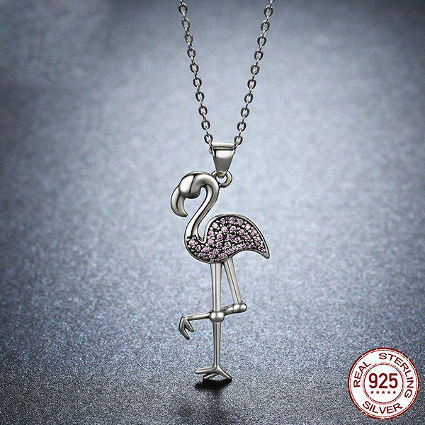 Rhinestone Collarbone Bird Sterling Silver Necklace