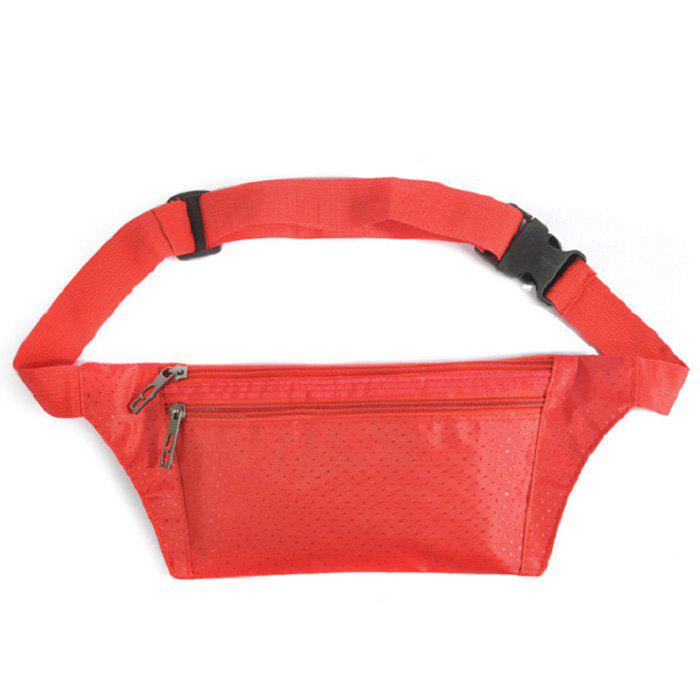 Nylon Light Weight Sport Wasit Bag - Rouge Clair