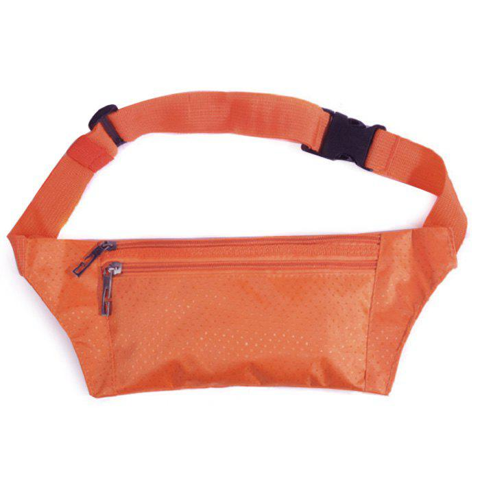 Nylon Light Weight Sport Wasit Bag - Orange