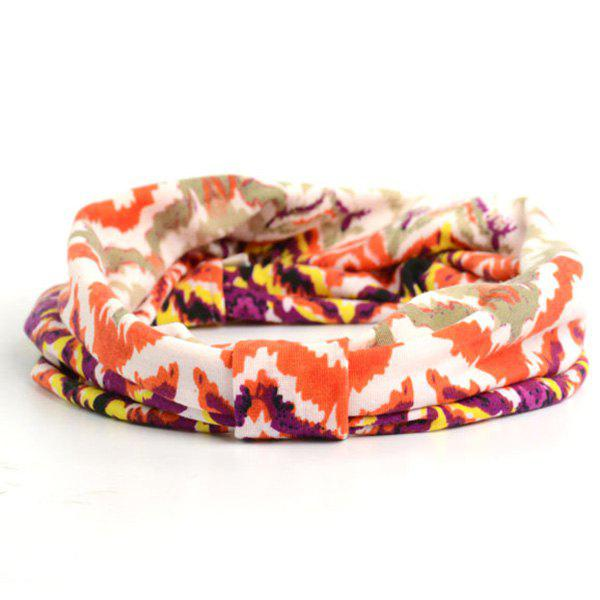 Showy Multicolor Pattern Headband - BRIGHT ORANGE
