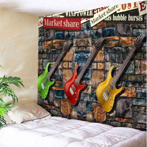 Microfiber Wall Hanging Three Guitar Tapestry - COLORMIX W59 INCH * L51 INCH
