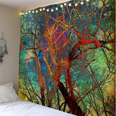 Colorful Branch Wall Art Tapestry - COLORFUL W59 INCH * L59 INCH
