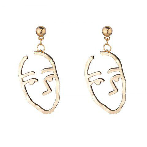 Alloy Funny Face Drop Earrings - GOLDEN