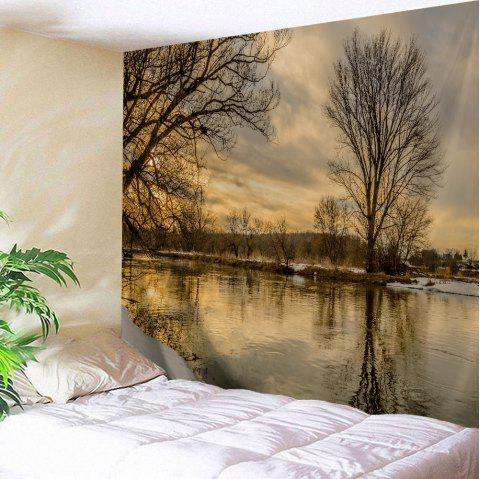 Wall Art Sunset Scenery Outdoor Blanket Tapestry - COLORMIX W71 INCH * L91 INCH