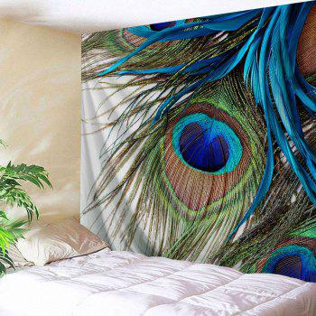 Wall Hanging Peacock Feather Throw Tapestry