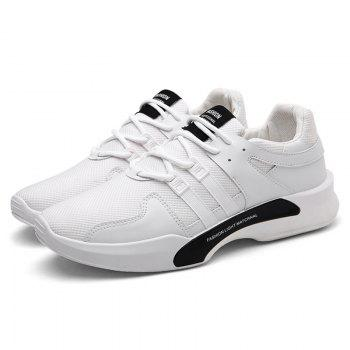 Suede Insert Tie Up Breathable Athletic Shoes - 43 43