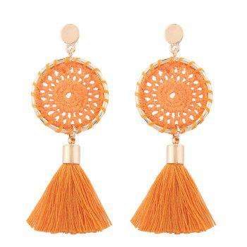 Tassel Crochet Floral Drop Earrings