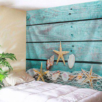 Wood Grain Conch Fabric Wall Decor Tapestry