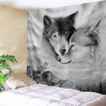 Wolf Printed Wall Hanging Home Decor Tapestry
