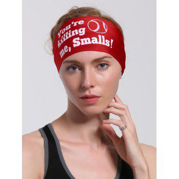 Sport Letters Printed Cycling Headband - RED RED