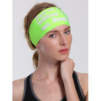 Sport Letters Printed Cycling Headband - NEON GREEN NEON GREEN