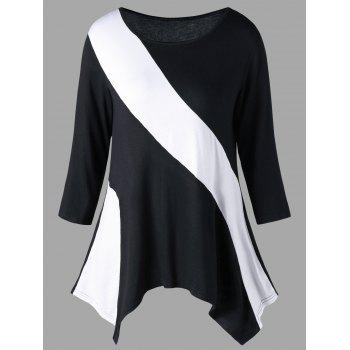 Two Tone Jersey Top