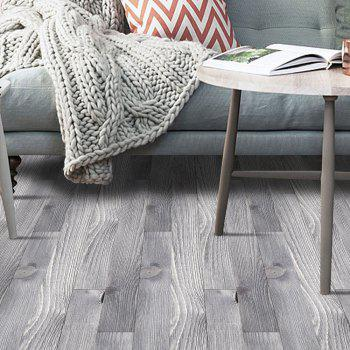 A Roll of Decorative Wood Grain Floor Sticker - SMOKY GRAY