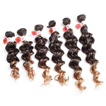 6PCS Ombre Colormix Deep Wave Synthetic Hair Weaves