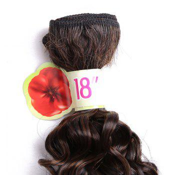 6PCS 14 ~ 18 pouces Colormix Jerry Wave Hair Weaves - Rouge vineux