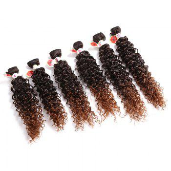 6PCS 14~18 Inches Colormix Jerry Wave Hair Weaves - DEEP BROWN