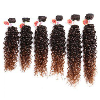 6PCS 14 ~ 18 pouces Colormix Jerry Wave Hair Weaves