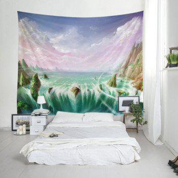 Wall Hanging Art Mountains River Print Tapestry - COLORFUL W79 INCH * L59 INCH