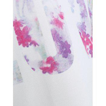 Summer Love Graphic Dropped Armhole Tank Top - Blanc M