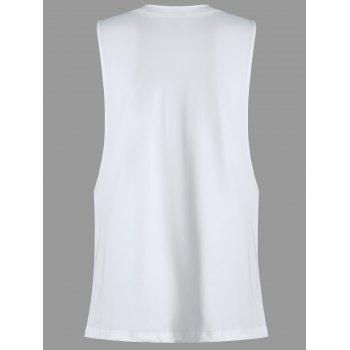 Summer Love Graphic Dropped Armhole Tank Top - Blanc XL