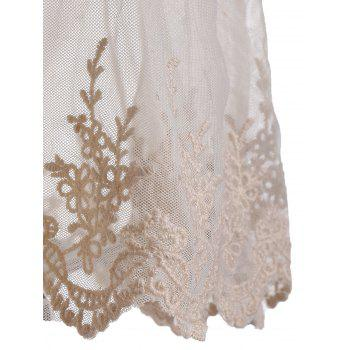 Laced Chiffon Cami Top - S S