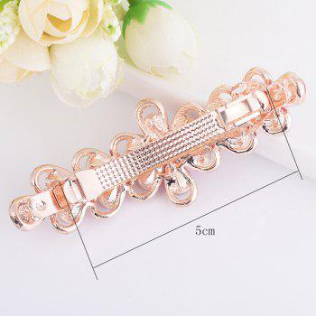 Artificial Crystal Rhinestone Inlaid Floral Barrette - COLORFUL