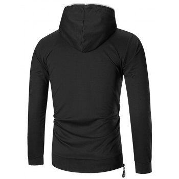 Sports Slim Half Zip Hoodie - BLACK L