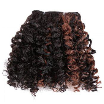 6PCS Short Shaggy Colormix Bloom Afro Curly Synthetic Hair Weaves -  DEEP BROWN