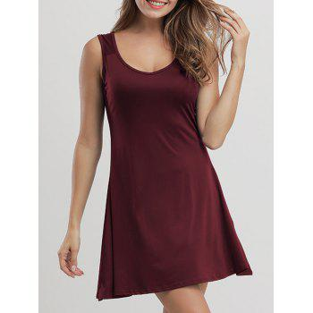 Casual Mini Flare Tank Dress