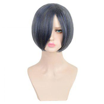 Short Inclined Bang Straight Colormix Black Butler Ciel Phantomhive Cosplay Wig