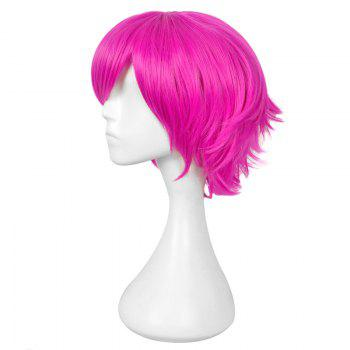 Layered Short Straight Heart No kuni No Alice Boris Cosplay Anime Wig - RED