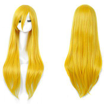 Long Inclined Bang Straight My Little Pony Lily Cosplay Anime Wig - YELLOW YELLOW