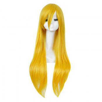 Long incliné Bang Straight My Little Pony Lily Cosplay Anime Wig - Jaune