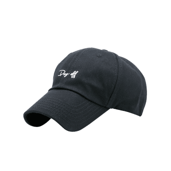 Plain Letters Embroiderid Baseball Cap -  BLACK