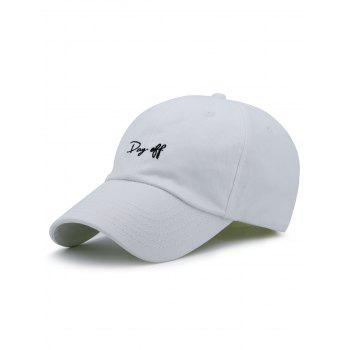 Plain Letters Embroiderid Baseball Cap - WHITE WHITE