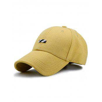 Baseball Hat with Tiny Rectangle Patchwork - YELLOW YELLOW