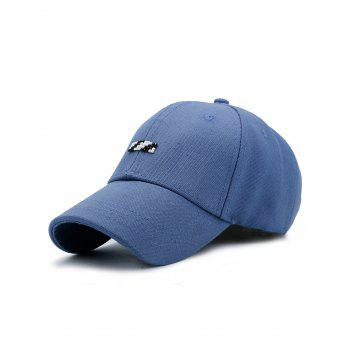 Baseball Hat with Tiny Rectangle Patchwork - BLUE BLUE