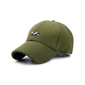 Baseball Hat with Tiny Rectangle Patchwork - GREEN GREEN