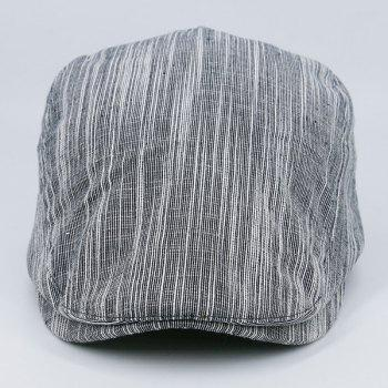 Outdoor Newsboy Cap with Irregular Pinstripe -  GRAY