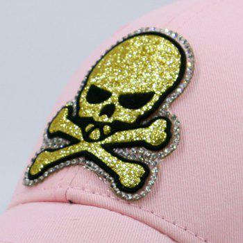 Outdoor Baseball Hat with Shimmer Skull Patchwork -  PAPAYA