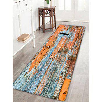 Flannel Skidproof Retro Wood Grain Rug