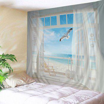 Wall Hanging Art Balcony Beach Print Tapestry
