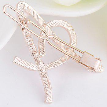 Rhinestones Hollow Out Letter A Hair Clip -  WHITE