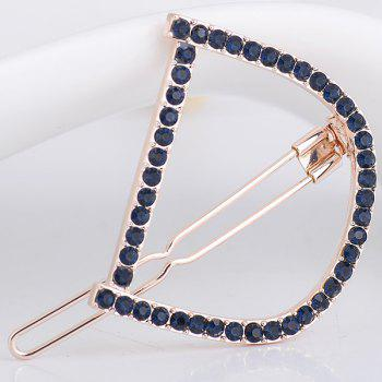 Rhinestones Hollow Out Letter D Hair Clip - DEEP BLUE DEEP BLUE