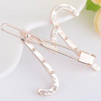 Rhinestones Letter M Shape Hair Clip - COLORFUL