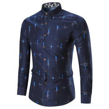 Plus Size Printed Long Sleeve Shirt