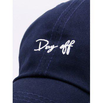 Plain Letters Embroiderid Baseball Cap - PURPLISH BLUE